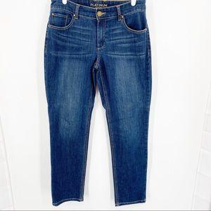 Chico's Platinum Denim Jeans Sz 0 (converts to 4)
